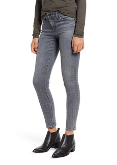 AG Adriano Goldschmied AG The Legging Ombré Plaid Ankle Skinny Jeans (Gray Light Plaid Ombré)