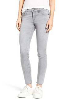 AG 'The Legging' Raw Edge Ankle Skinny Jeans (Mystic Grey)