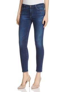 AG The Middi Ankle Skinny Jeans in Moonlight