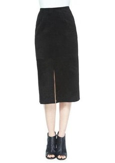 AG The Ortiz Suede Skirt