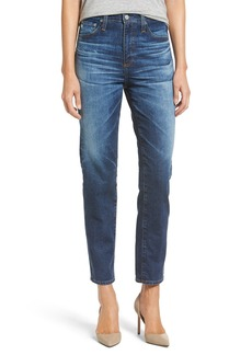 AG 'The Phoebe' Vintage High Rise Straight Leg Jeans (10 Year Wick)