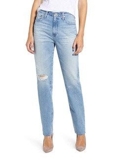 AG Adriano Goldschmied AG The Phoebe Extended High Rise Slim Straight Leg Jeans (22 Years Homage)