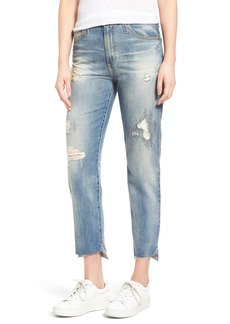 AG 'The Phoebe' High Rise Slim Straight Leg Jeans (17 Years Laps Mended)
