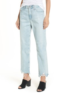 AG Adriano Goldschmied AG The Phoebe High Rise Straight Leg Jeans (Bering Wave)