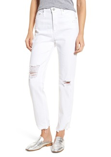 AG The Phoebe High Waist Straight Leg Jeans (5 Years Tattered White)