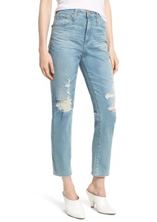 AG Adriano Goldschmied AG 'The Phoebe' Vintage High Rise Straight Leg Jeans (18 Years Headlands)