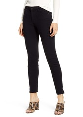 AG Adriano Goldschmied AG The Prima Raw Hem Ankle Skinny Jeans (Super Black)
