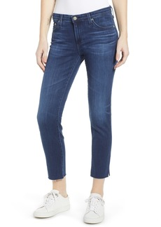 AG Adriano Goldschmied AG The Prima Mid Rise Raw Hem Crop Cigarette Jeans (05 Year Blue Essence)