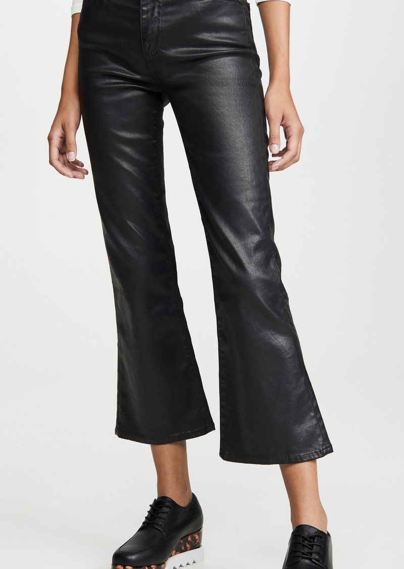AG Adriano Goldschmied AG The Quinne Leatherette Light Cropped Jeans