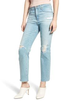 AG Adriano Goldschmied AG The Rhett High Waist Crop Boyfriend Jeans (23 Years Cerulean Chase)