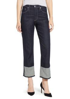 AG Adriano Goldschmied AG The Rhett High Waist Cuff Crop Jeans (Blue Note)