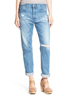 AG 'The Sloan Vintage' Distressed Straight Leg Jeans (20 Years Carved Stone)