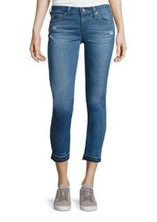 AG The Stilt Raw-Edge Cropped Jeans