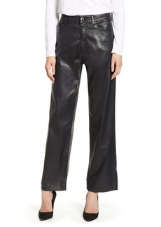 AG Adriano Goldschmied AG The Tomas High Waist Wide Leg Coated Jeans (Super Black)