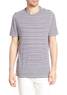 AG Adriano Goldschmied AG Theo Striped Cotton & Linen T-Shirt