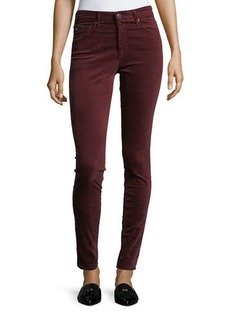 AG Adriano Goldschmied Velvet Farrah High Rise Skinny Pants