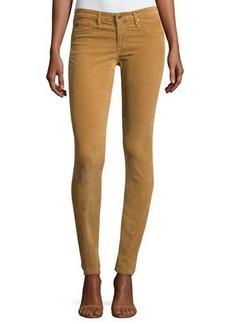 AG Velvet-Soft Corduroy Low-Rise Skinny Pants