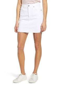 AG Adriano Goldschmied AG Vera Cutoff Denim Miniskirt (Retro White)