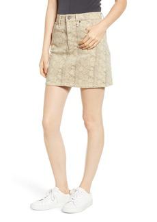 AG Adriano Goldschmied AG Vera Snake Print Denim Miniskirt