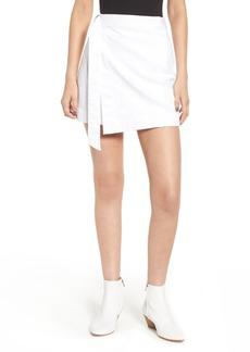 AG Adriano Goldschmied Ahlaia Asymmetrical Wrap Skirt