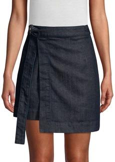 AG Adriano Goldschmied Ahlaia Denim Wrap Skirt