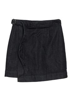 AG Adriano Goldschmied Ahlaia Wrap Denim Skirt