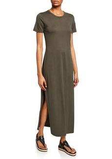 AG Adriano Goldschmied Alana Crewneck Short-Sleeve Dress