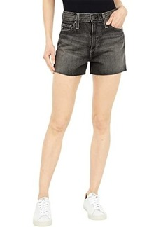 AG Adriano Goldschmied Alexxis High-Rise Vintage Shorts in Shadow Black