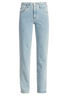 AG Adriano Goldschmied Alexxis Mid-Rise Straight-Leg Jeans
