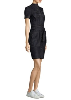 AG Adriano Goldschmied Aurelie Denim Belted Shirtdress