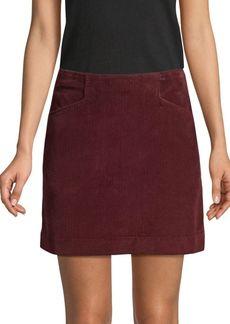 AG Adriano Goldschmied Bernadette Wide-Wale Cord Mini Skirt