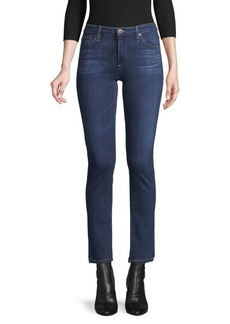 AG Adriano Goldschmied Buttoned Mid-Rise Jeans