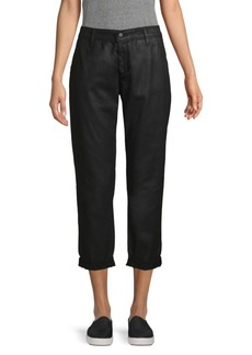 AG Adriano Goldschmied Caden Mid-Rise Tailored Leatherette Trousers