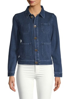 AG Adriano Goldschmied Collared Denim Jacket