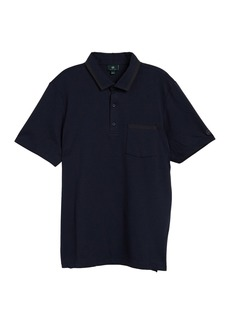 AG Adriano Goldschmied Contrast Knit Pocket Polo