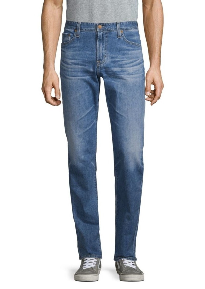AG Adriano Goldschmied Cotton-Blend Faded Denim Pants