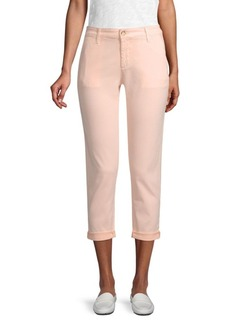 AG Adriano Goldschmied Cropped Cotton Trousers
