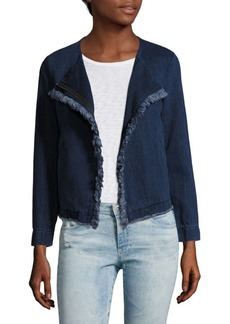 AG Adriano Goldschmied Delia Frayed Denim Jacket