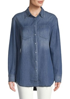 AG Adriano Goldschmied Denim Hi-Lo Button-Down Shirt