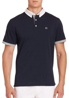 AG Adriano Goldschmied Deuce Colorblocked Polo