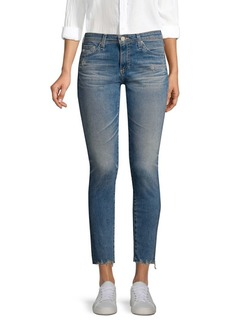 AG Adriano Goldschmied Legging Ankle Distressed-Hem Jeans