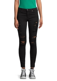 AG Adriano Goldschmied Distressed Dark Jeans