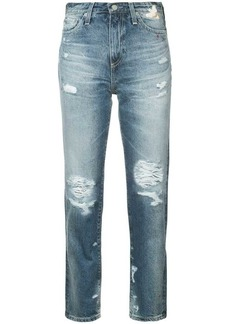 AG Adriano Goldschmied distressed high-rise jeans