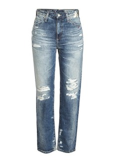 AG Adriano Goldschmied Distressed Jeans with Embroidery