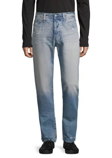AG Adriano Goldschmied Distressed Straight Jeans