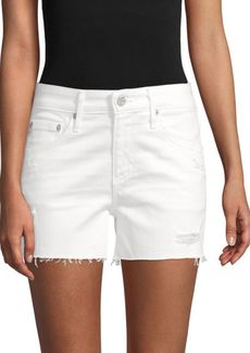 AG Adriano Goldschmied Distressed Stretch Shorts
