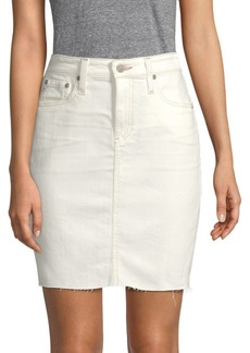 AG Adriano Goldschmied Erin Distressed Denim Skirt