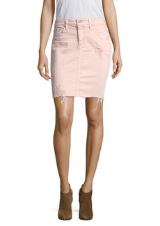 AG Adriano Goldschmied Erin Pencil Vintage Distressed Skirt