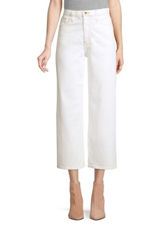 AG Adriano Goldschmied Etta High-Rise Wide-Leg Crop Jeans