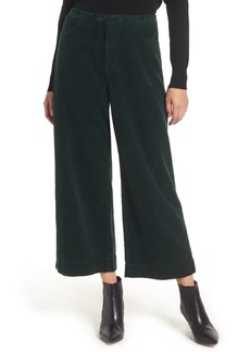 AG Adriano Goldschmied Etta High Waist Crop Wide Leg Corduroy Pants